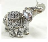 Silver Elephant 10cm