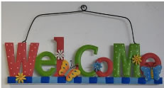 Welcome Plaques 3 Ast Styles