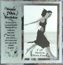 70th Birthday Frame & Verse