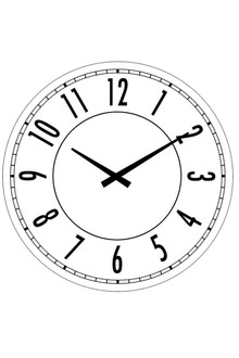Striking Glass Clock 30cm - suitable for any location in the home