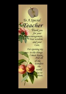 Teachers Plaque 6 x 18cm