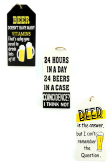 Beer Signs 3 assorted sayings - 17 x 8cm
