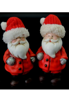 Santa with Xmas Hat 2 assorted - 13cm