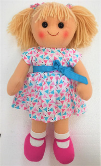 Hopscotch doll Mila - White dress and pink shoes