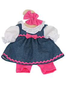 Hopscotch Doll Clothes - Demin Dress  Shorts