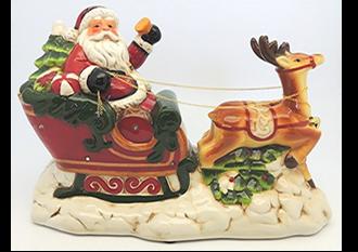 Musical Santa on Sleigh with Flashing or Static lights