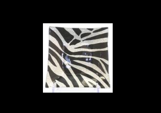 Zebra Plate 15cm Sq