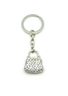 Boxed Key Ring Diamante Hang Bag