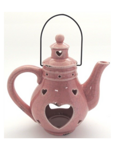 Teapot Lantern - Pink -  22x22cm