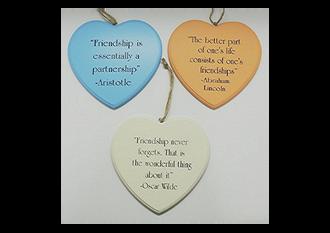 Poets Corner Friendship Hearts 3 ast sayings