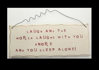 Laugh-Snore Sign 25x10cm