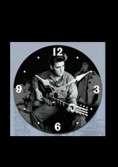 Elvis Clock 17cm