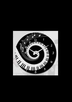 Piano Notes Clock 17cm