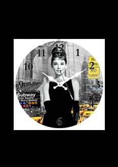 Audrey Hepburn Clock 17cm