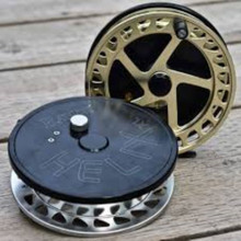 "Raven Helix New XL! Centerpin/Float Reel 5"" Black/ Gold"
