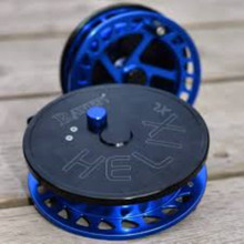 "Copy of Raven Helix New XL! Centerpin/Float Reel 5"" Black/ Blue"