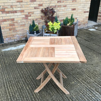 Batsford square folding outdoor Table