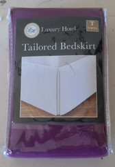 Luxury Hotel Bedskirt TWIN/PLUM- New
