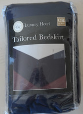 Luxury Hotel Tailored Bedskirt CAL KING/NAVY - USED