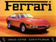 CLASSIC  FERRARI DAYTONA ENAMEL SIGN HAS RICH COLORS AND GREAT DETAILS