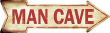 """FLAT ALUMINUM ARROW SHAPED METAL SIGN 17"""" X 5"""" WITH HOLES FOR EASY MOUNTING"""