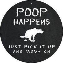 """12"""" ROUND DOG POOP SIGN MADE OF ALUMINUM WITH HOLE(S) FOR EASY MOUNTING"""