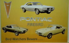 "Photo of PONTIAC FIREBIRD COLLAGE ""BIRD WATCHERS BEWARE…""  PICTURES OF THREE DIFFERENT FIREBIRS, NICE COLOR SHARP GRAPHICS"
