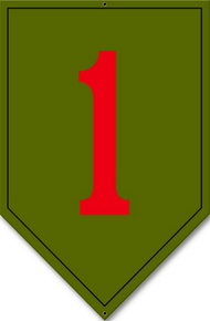Photo of 1ST INFINTRY DIVISION PATCH SIGN, ON HEAVY METAL HAS HOLE(S) FOR EASY INSTALLATION. THIS SIGN HAS RICH COLORS AND GREAT DETAIL  THE BIG RED ONE
