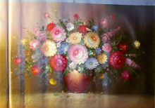 Photo of FLOWERS IN VASE OIL PAINTING