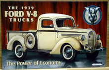 Photo of FORD 1939 V-8 PICKUP TRUCK  EXCELLENT GRAPHICS, OLD TIME COLORS