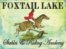 FOXTAIL FARMS ENAMEL SIGN, STABLES & RIDING ACADAMEY  RICH COLOR AND DETAILS