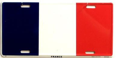 FRANCE FLAG LICENSE PLATE
