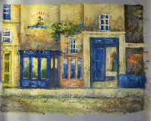 FRENCH STREET SCENE (FELIX POTTEN) SMALL SIZE OIL PAINTING
