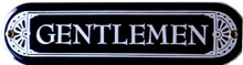 GENTLEMEN PORCELAIN SIGN