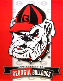GEORGIA BULLDOGS COLLEGE SIGN
