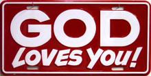 GOD LOVES YOU LICENSE PLATE