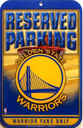 GOLDEN STATE WARRIORS BASKETBALL PARKING SIGN, GREAT COLORS AND GRAPHICS