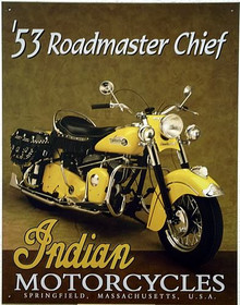 Photo of 53 INDIAN ROADMASTER THIS CLASSIC SIGN IS OUT OF PRODUCTION AND IS IN SHORT SUPPLY, GREAT BIKE!