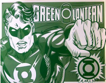 GREEN LANTERN DUO-TONE SUPER HERO SIGN GREAT GRAPHICS AND COLORS