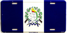 GUATAMALA FLAG LICENSE PLATE