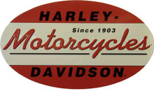 HARLEY 1903 OVAL DIE & CUT EMBOSSED MOTORCYCLE SIGN, SHARP ATTENTION TO DETAIL, GREAT COLOR