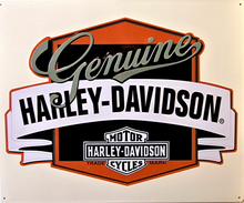 HARLEY GENUINE BANNER EMBOSSED  MOTORCYCLE SIGN