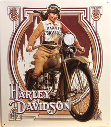 HARLEY NEAVEAU EMBOSSED MOTORCYCLE SIGN