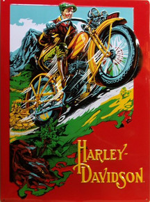 HARLEY RIDER EMBOSSED MOTORCYCLE SIGN
