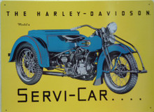 HARLEY  SERVI-CAR (THREE WHEEL BIKE) MOTORCYCLE SIGN