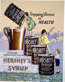 HERSHEY CHOCOLATE SYURP  STEPS SIGN