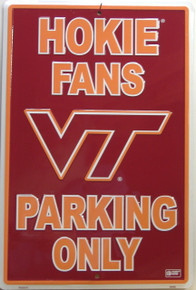 HOKIE COLLEGE FANS SIGN