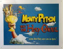 HOLY GRAIL, RETRO MONTY PYTHON MOVIE POSTER TIN SIGN