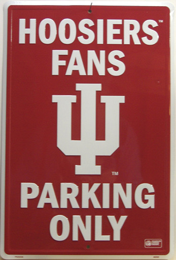 HOOSIERS FANS COLLEGE SIGN