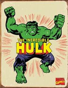 HULK RETRO SUPER HERO SIGN